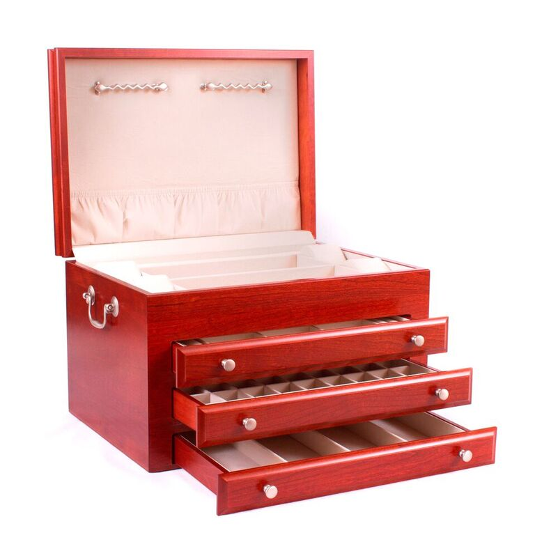 Majestic Wooden Jewelry Chest By American Chest
