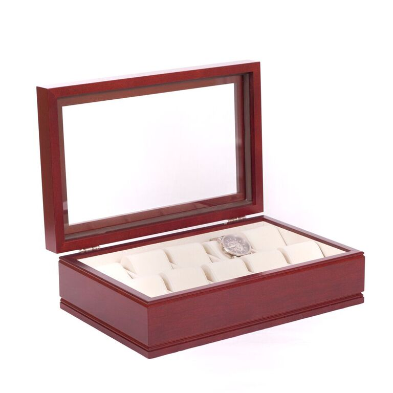 The Commander Watch Box Finish: Mahogany By American Chest