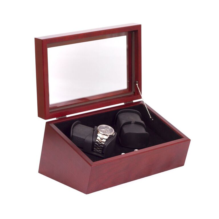 The General Quad Watch Winder Finish: Mahogany By American Chest