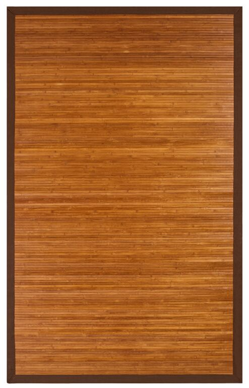 Anji Mountain Contemporary Chocolate Bamboo Area Rug