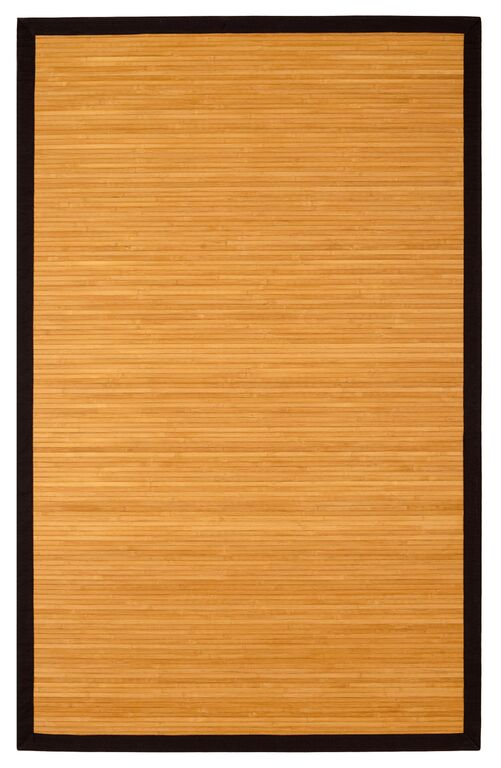 Anji Mountain Contemporary Natural Bamboo Area Rug