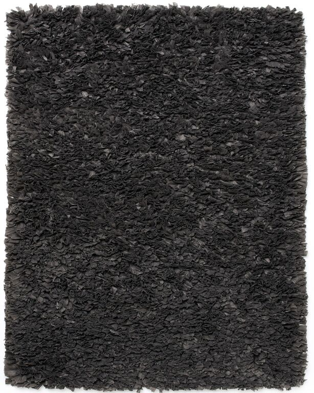 Anji Mountain Gray Paper Shag Area Rug