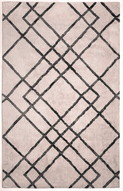 Anji Mountain Diamond Dogs, Ivory/gray Area Rug