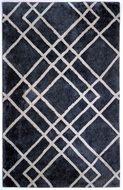 Anji Mountain Diamond Dogs, Gray/ivory Area Rug