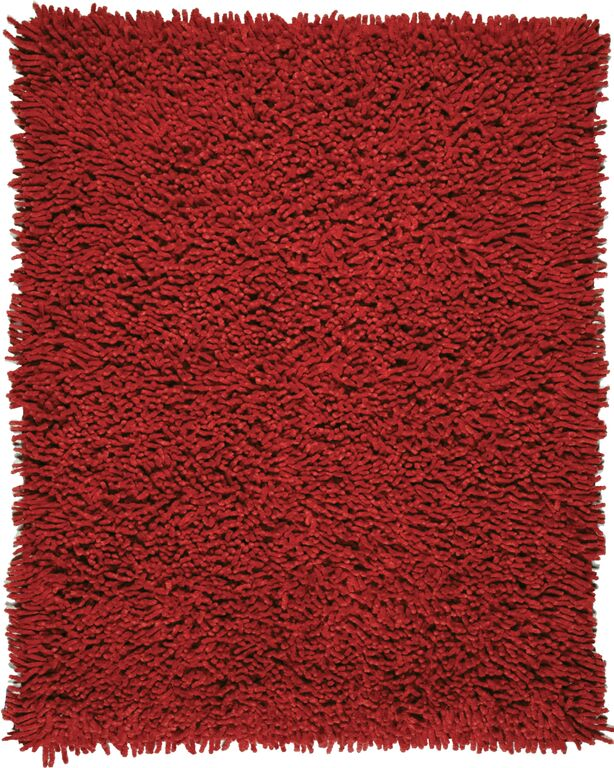Anji Mountain Crimson Silky Shag Area Rug