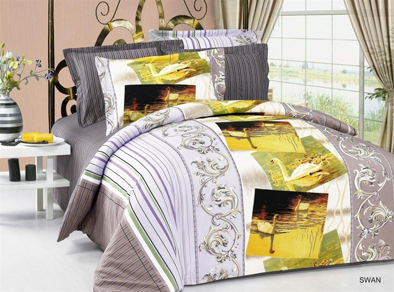 Diana Full/queen Bed Modern Bedding Floral Duvet Cover Set