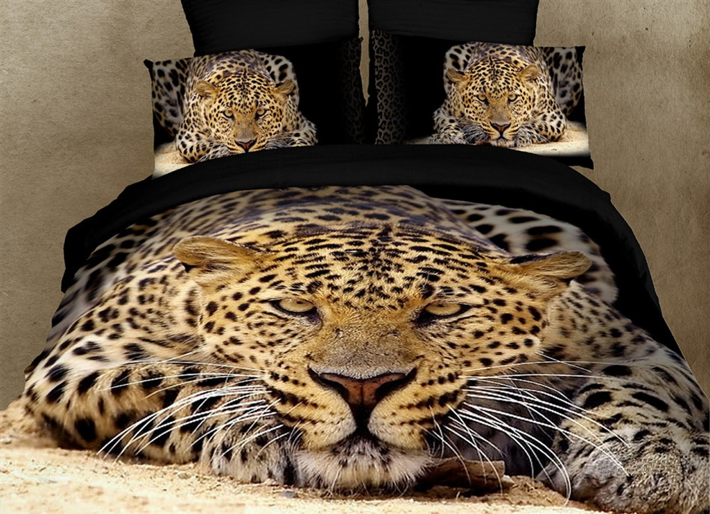 Dolce Mela Safari Themed Luxury King Bedding Duvet Cover Set