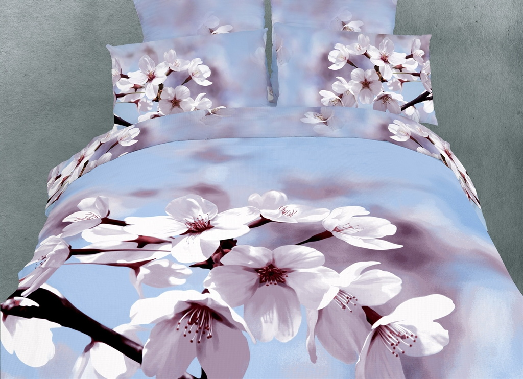 Dolce Mela King Duvet Cover Set Luxury Modern Floral Bedding