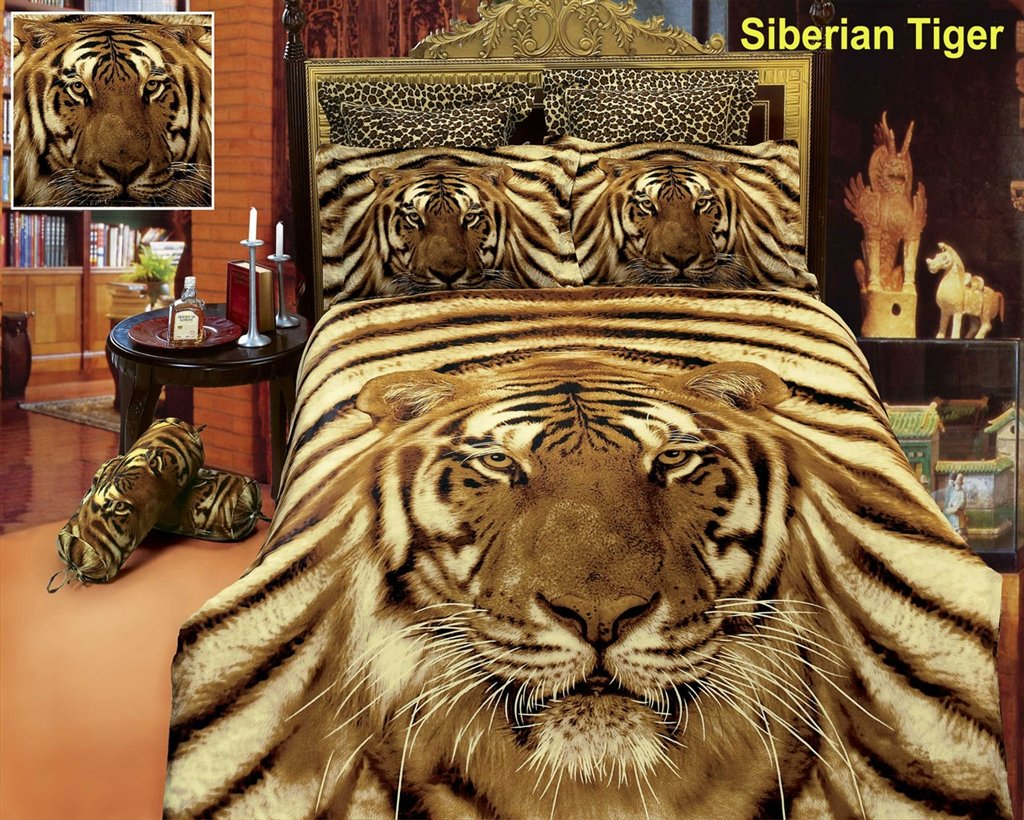 Dolce Mela Safari Themed Luxury Queen Bedding Duvet Cover Set