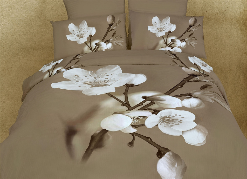 Dolce Mela King Luxury Modern Floral Bedding Duvet Cover Set