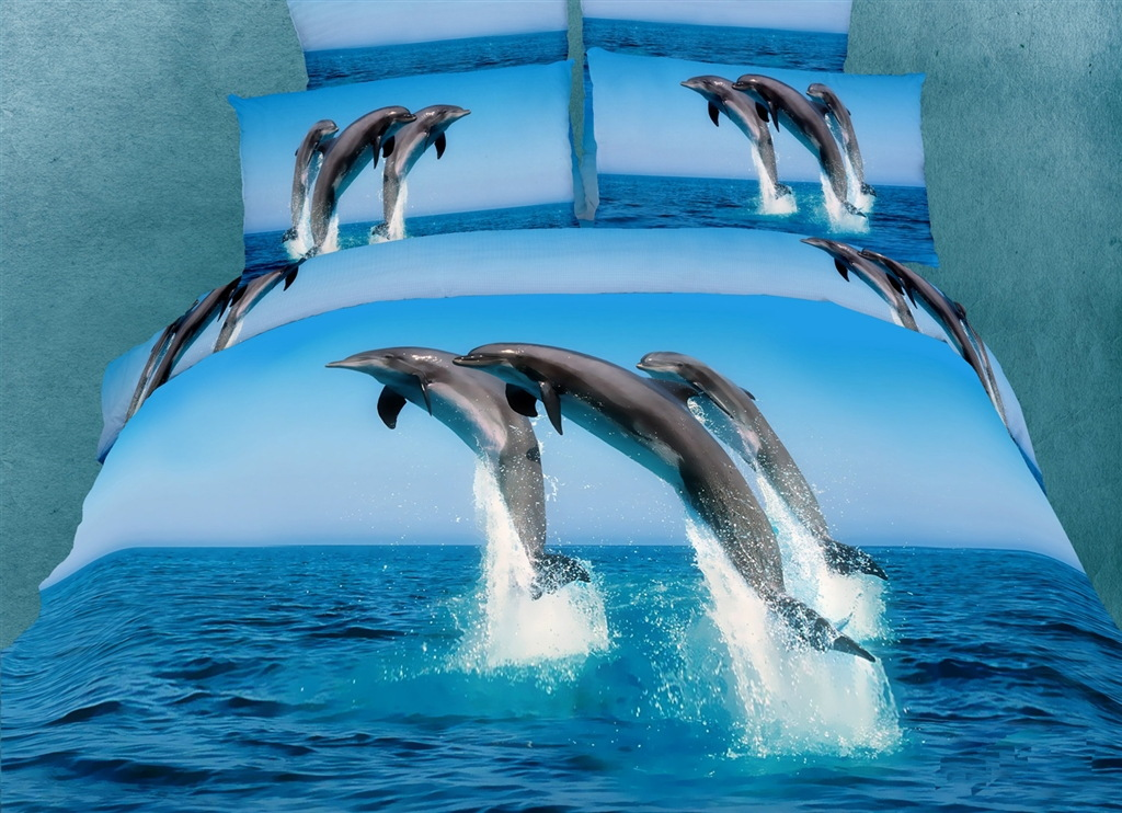 Dolce Mela Marine Queen Bed Luxury Bedding Duvet Cover Set