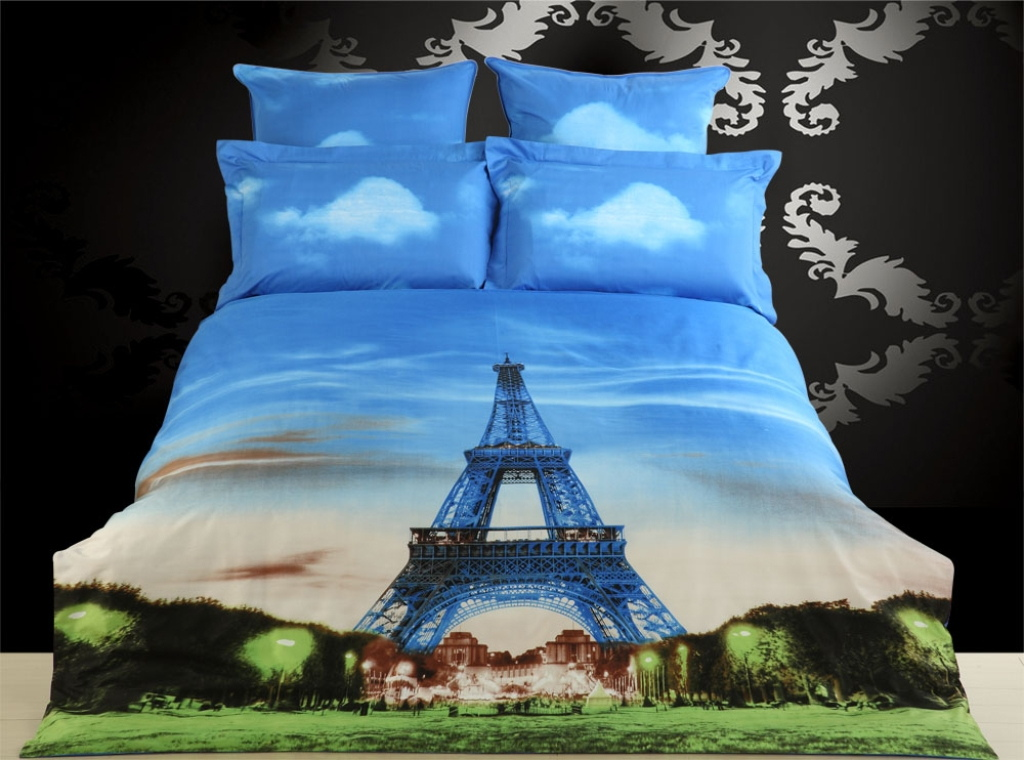 Dolce Mela Luxury King Size Duvet Cover Set City Themed