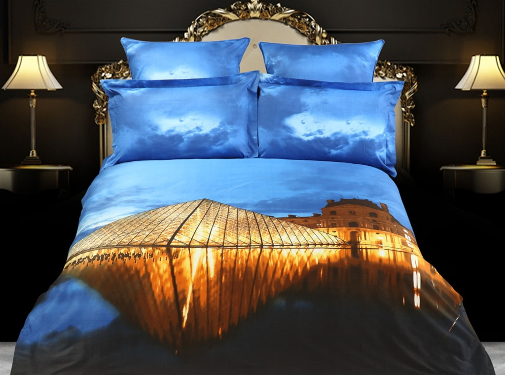 Dolce Mela King Size Luxury Duvet Cover Set City Themed