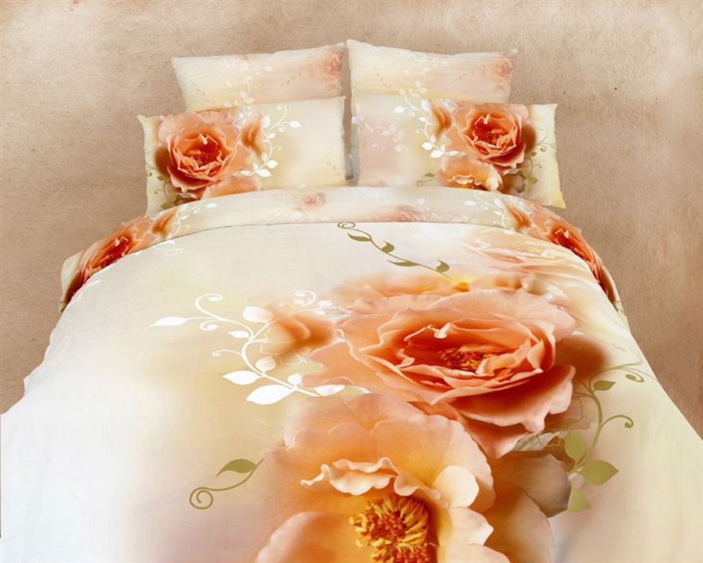 Dolce Mela Queen Bed Modern Bedding Floral Duvet Cover Set