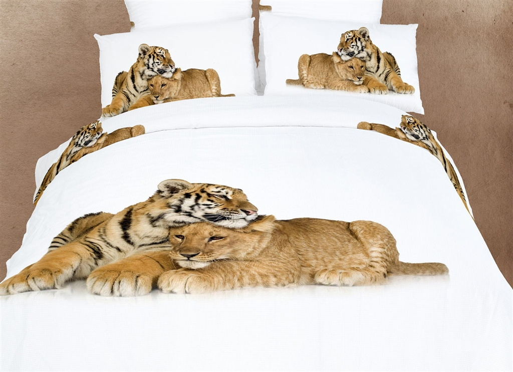 Dolce Mela Safari Themed Bedding Queen Duvet Cover Set