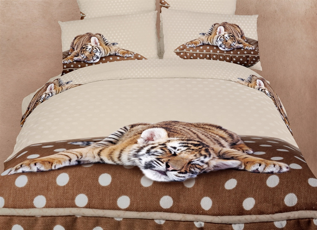 Dolce Mela Queen Bedding Animal Print Design Duvet Cover Set