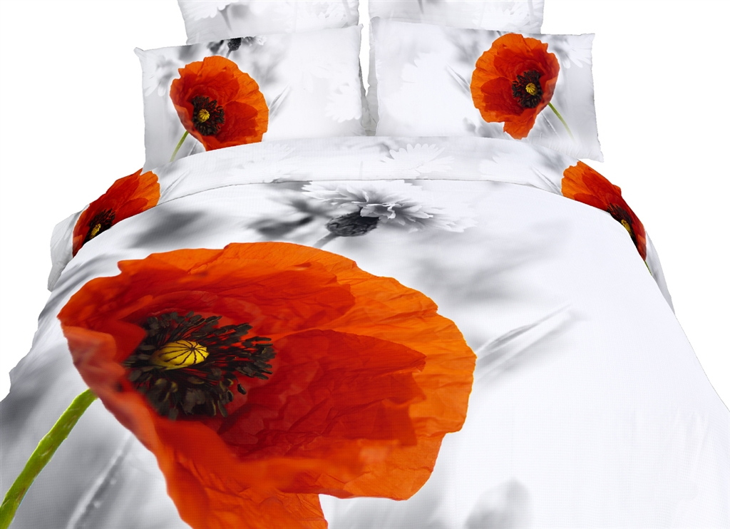 Dolce Mela Floral Bedding Queen Size 6 Piece Duvet Cover Sets