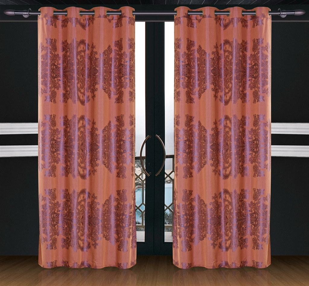 Dolce Mela Window Treatments Damask Drapes Areon Curtain Panels