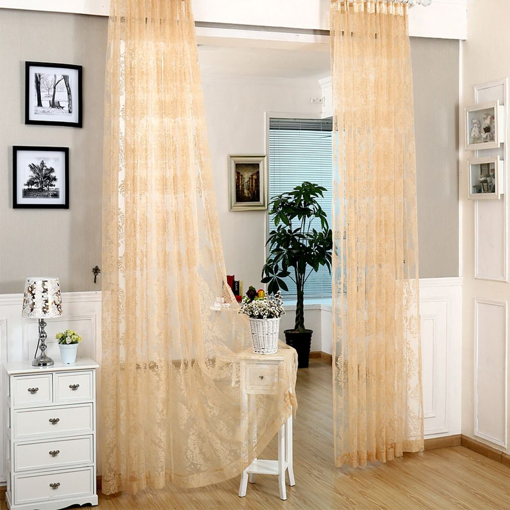 Window Sheer Curtains Panel, Larissa