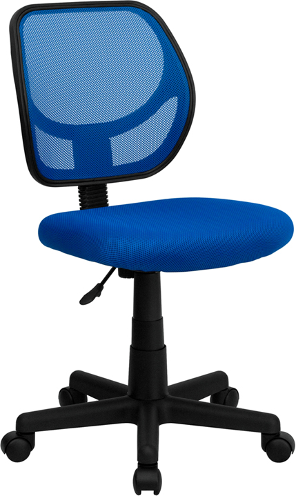 Flash Furniture  Mid-back Task Chair Blue Mesh Upholstery