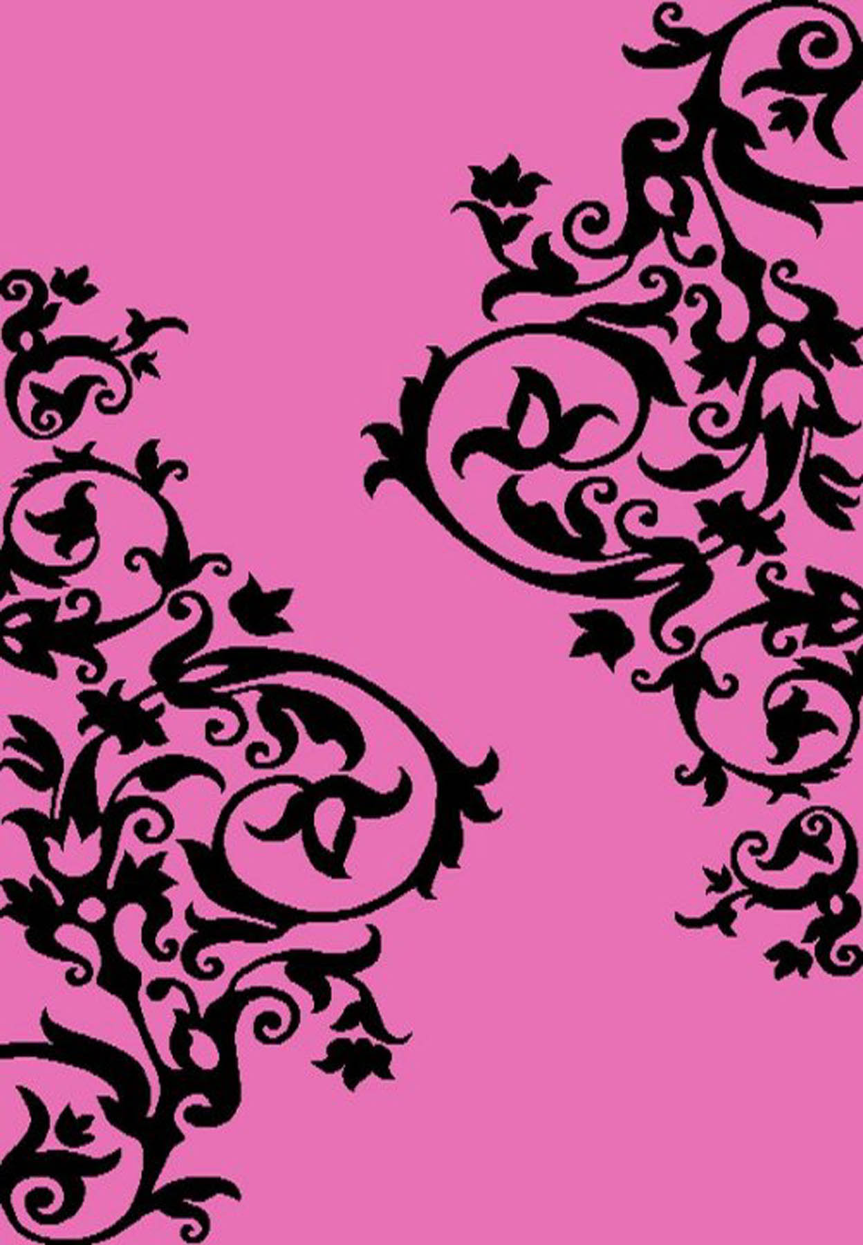 Tatoo Scroll Pink 2'7 X 4'1
