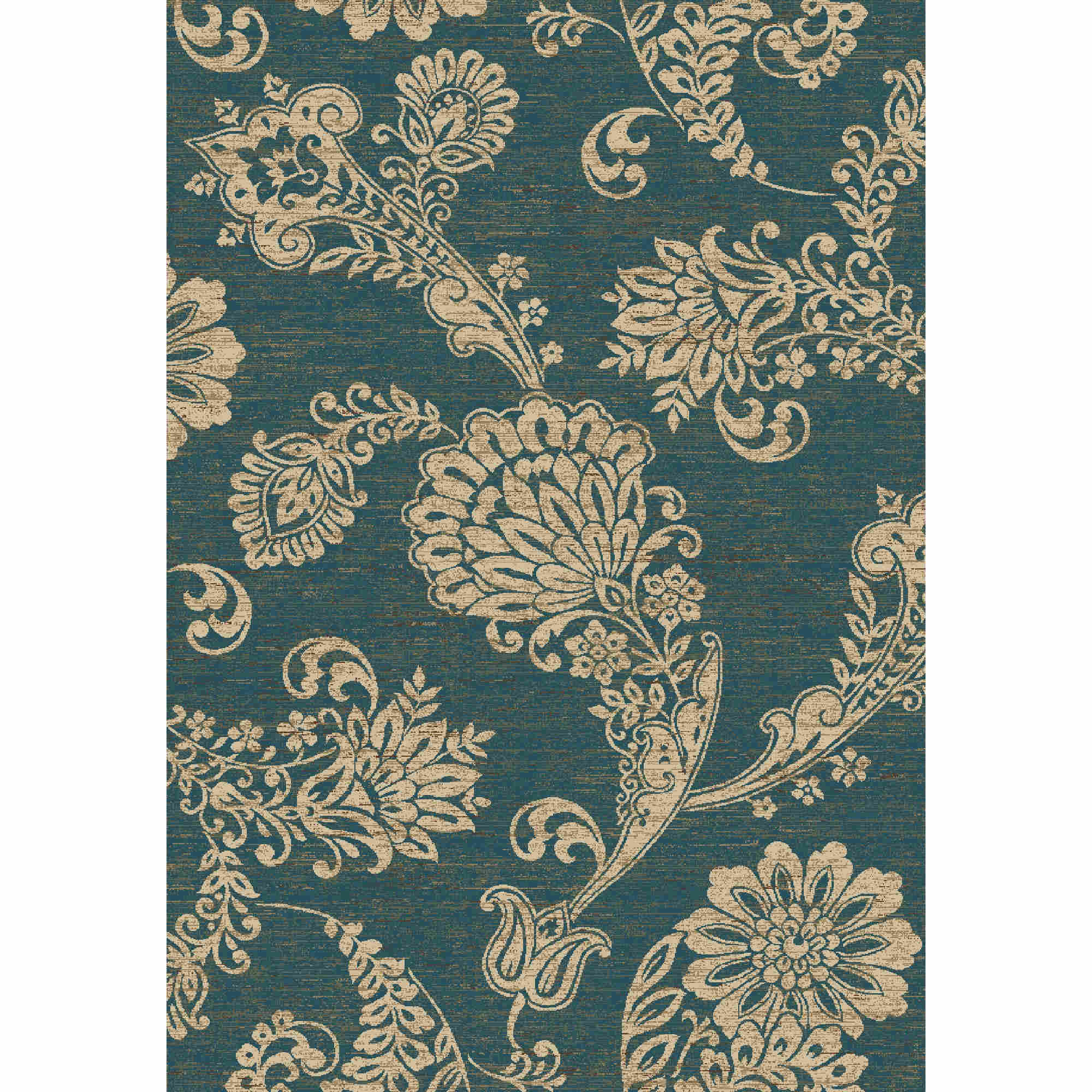 Paisley Flower Blue 5' 3 Round