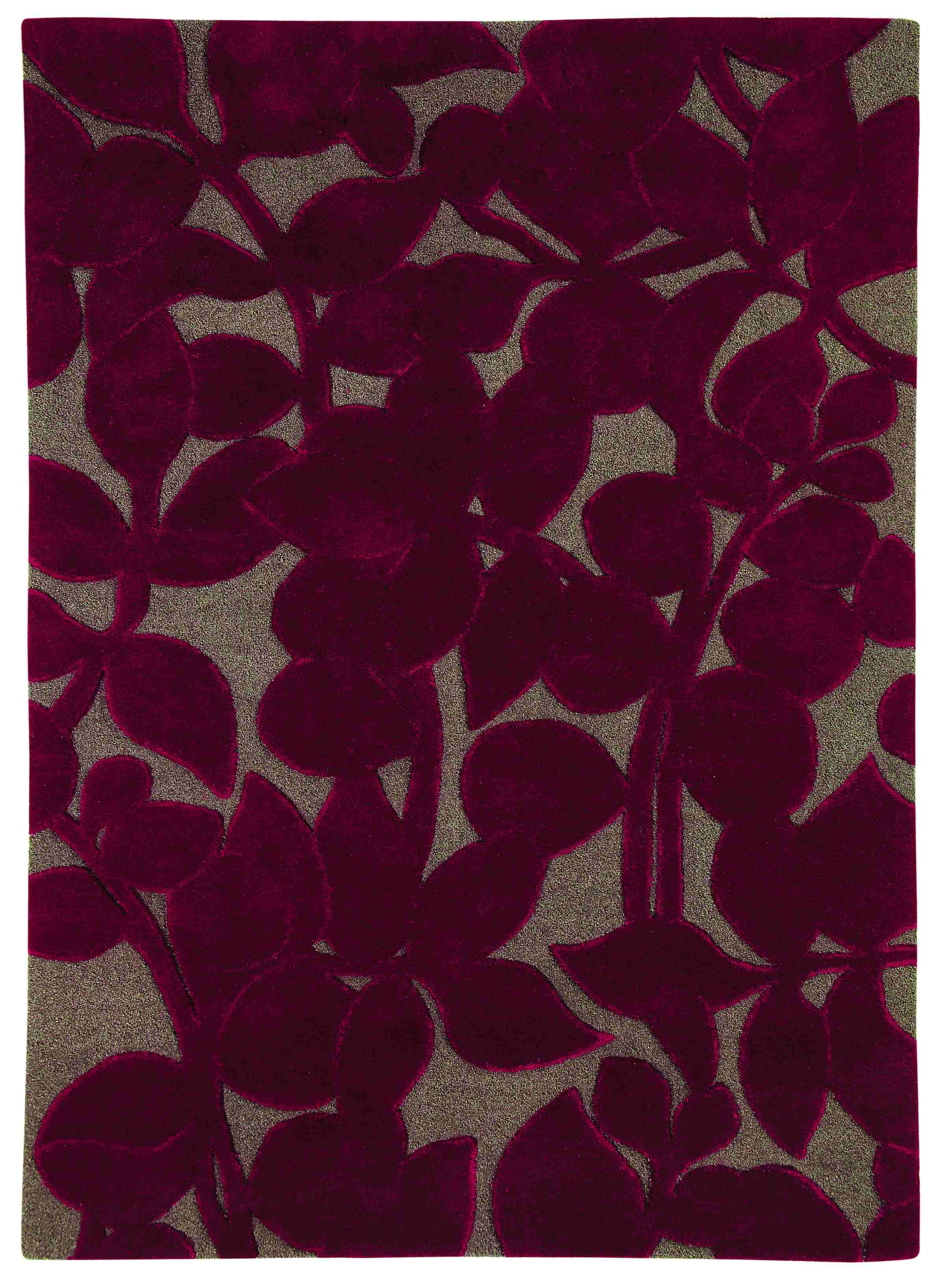 Dynamic Rugs Allure Floral Rich Red 1904 Area Rug