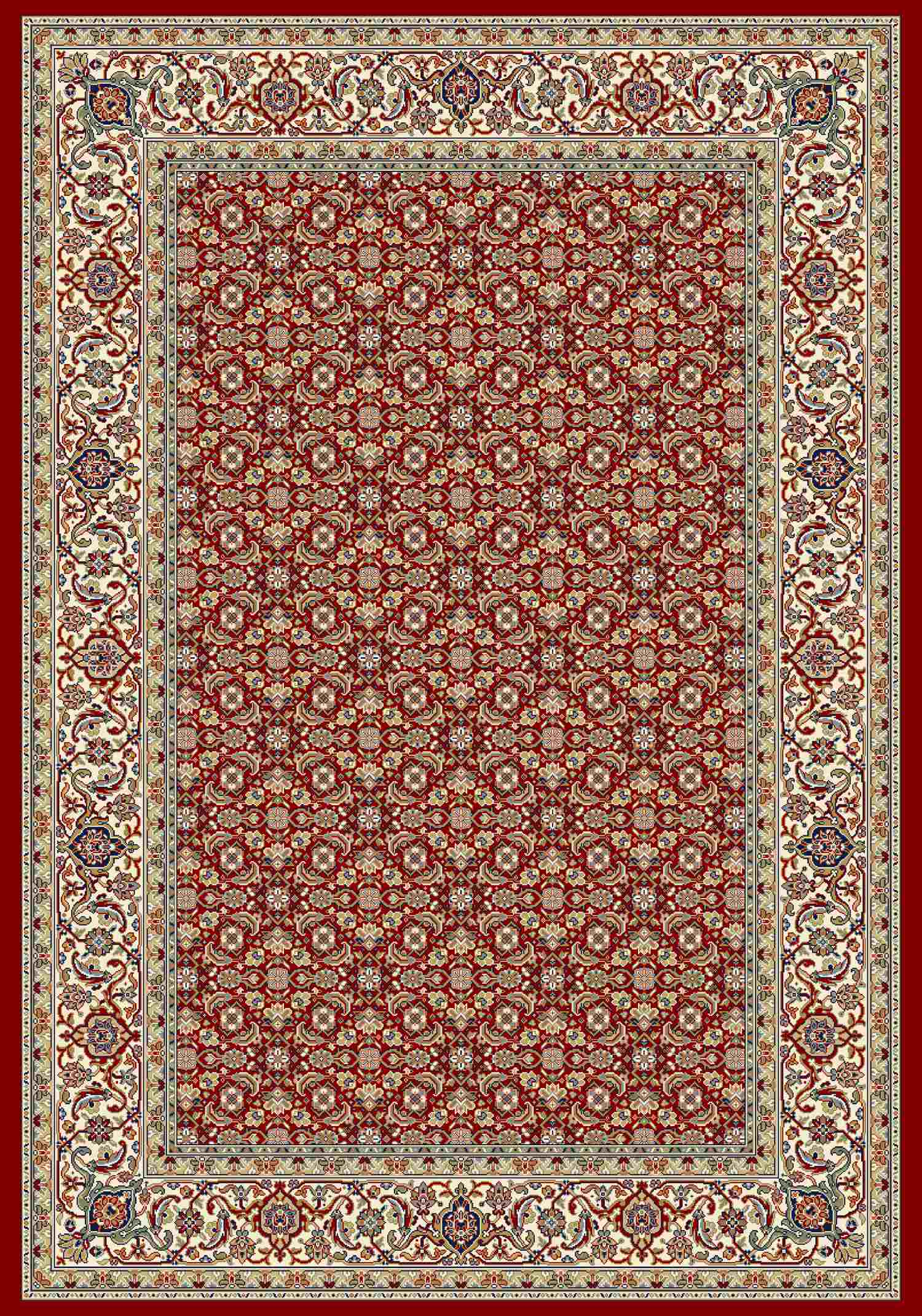 Dynamic Rugs Ancient Garden Classic Red/ivory 57011 Area Rug