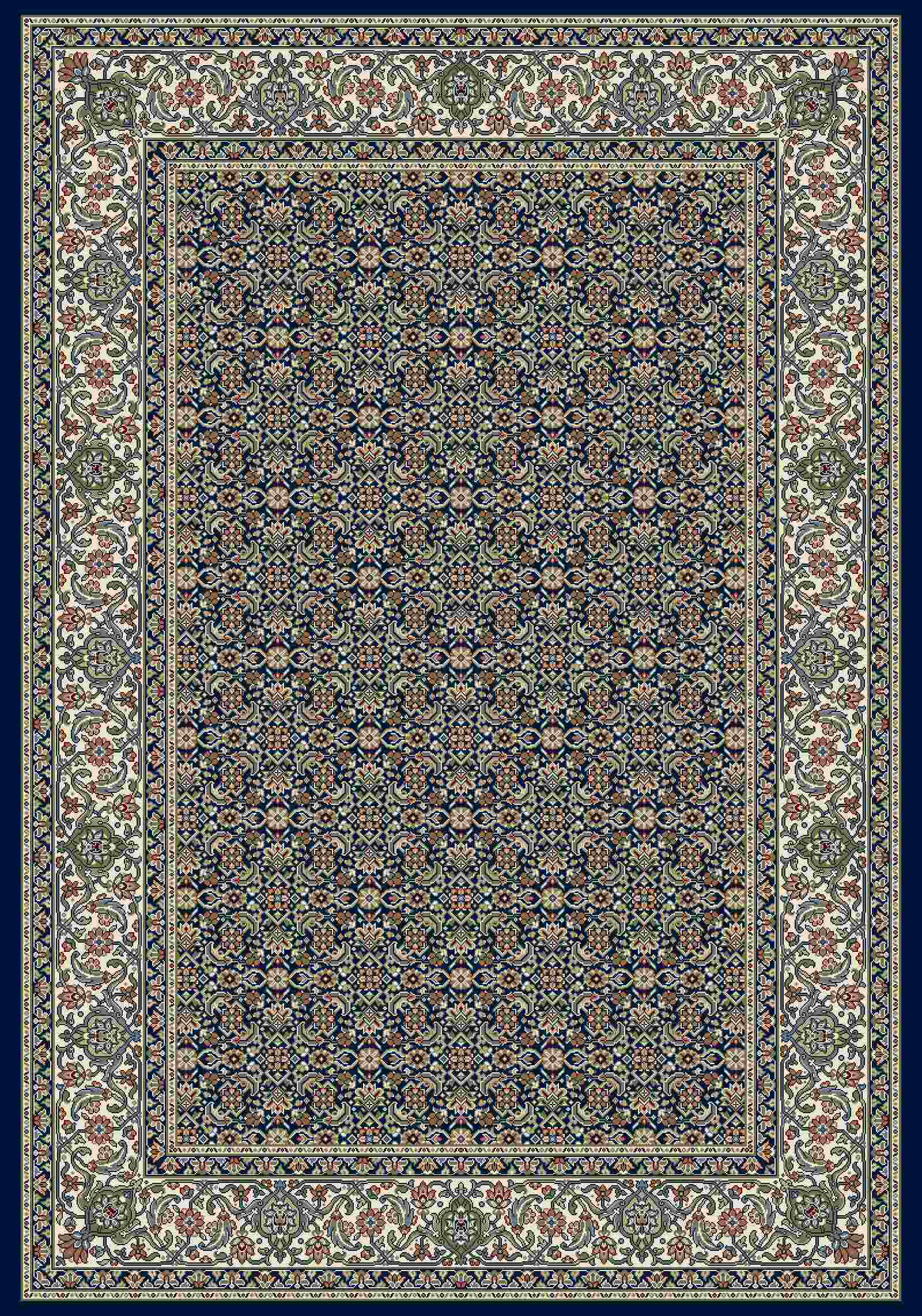 Dynamic Rugs Ancient Garden Classic Navy 57011 Area Rug