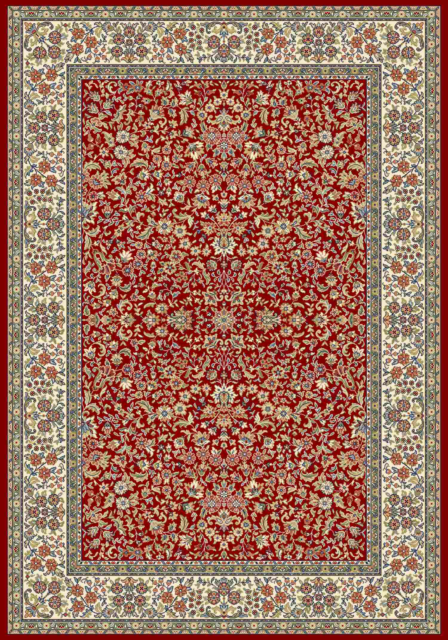 Dynamic Rugs Ancient Garden Classic Red/ivory 57078 Area Rug