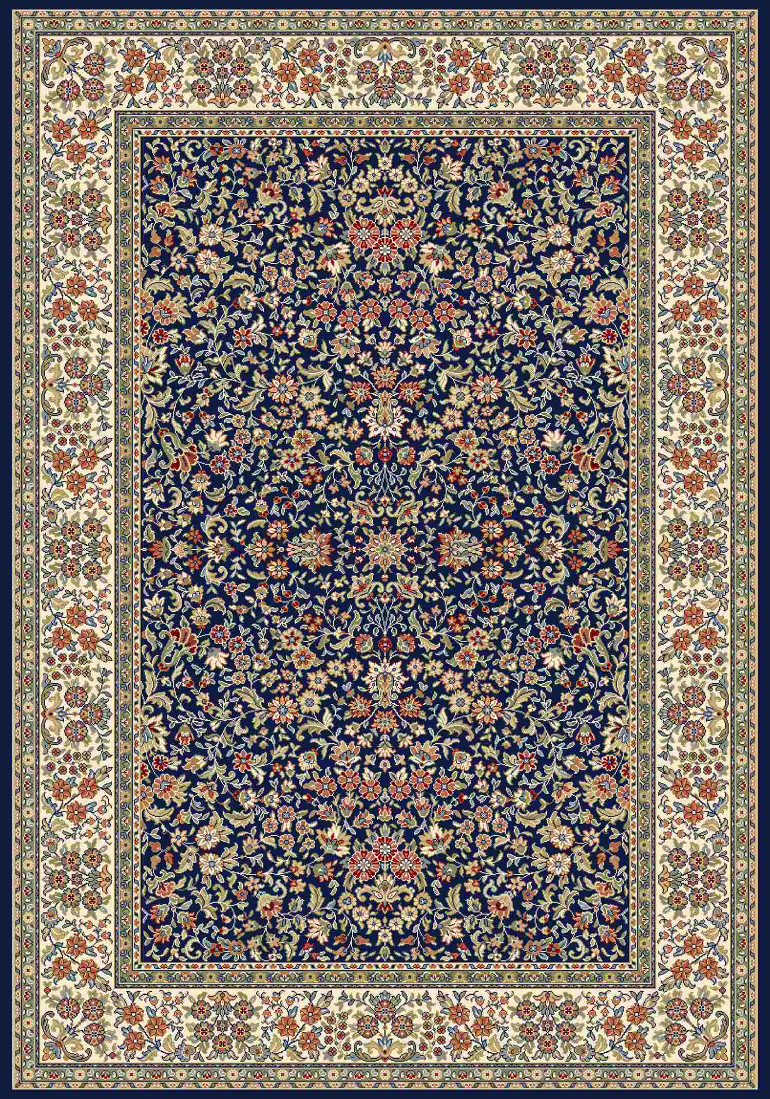 Dynamic Rugs Ancient Garden Classic Blue/ivory 57078 Area Rug