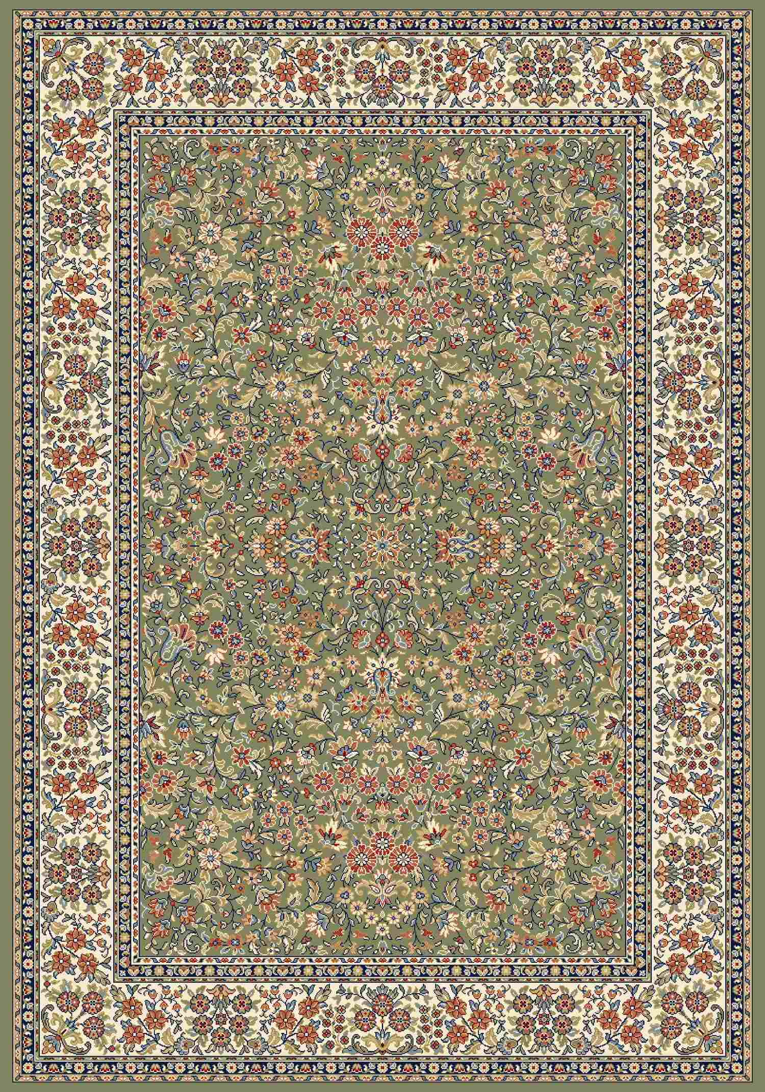 Dynamic Rugs Ancient Garden Classic Green/ivory 57078 Area Rug