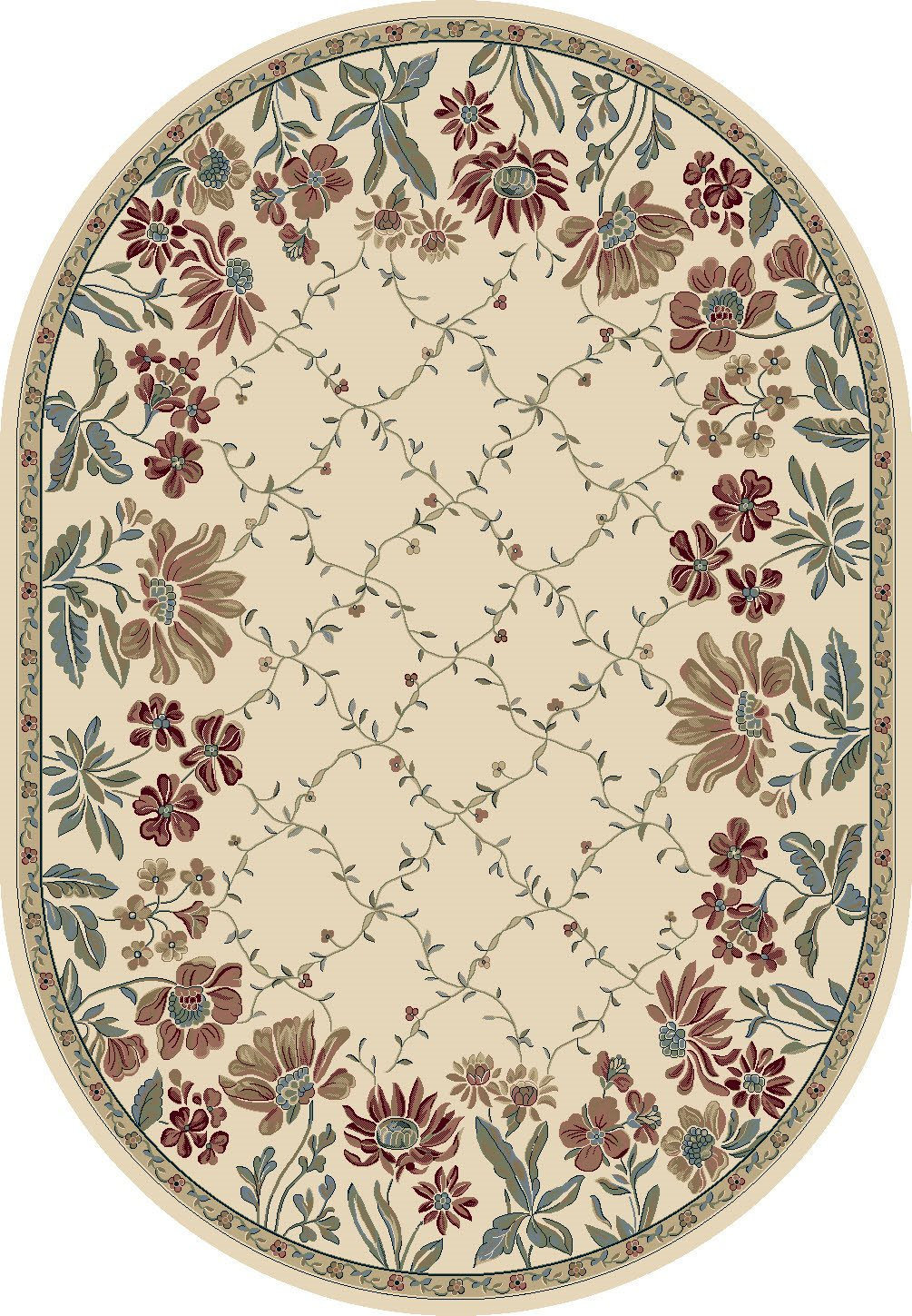 Dynamic Rugs Ancient Garden Floral Ivory 57084 Area Rug