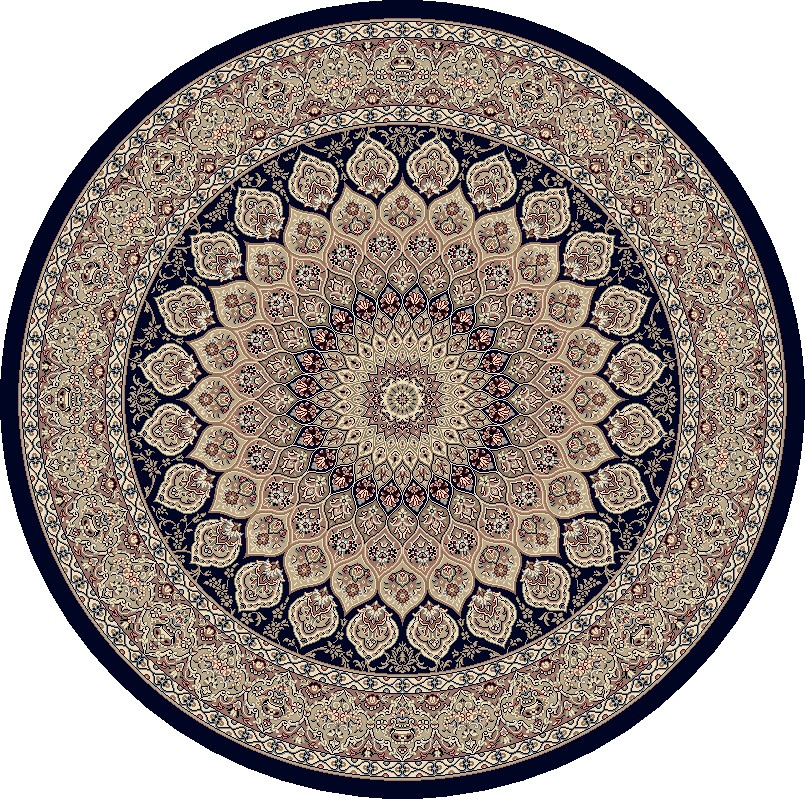 Dynamic Rugs Ancient Garden Classic Navy 57090 Area Rug