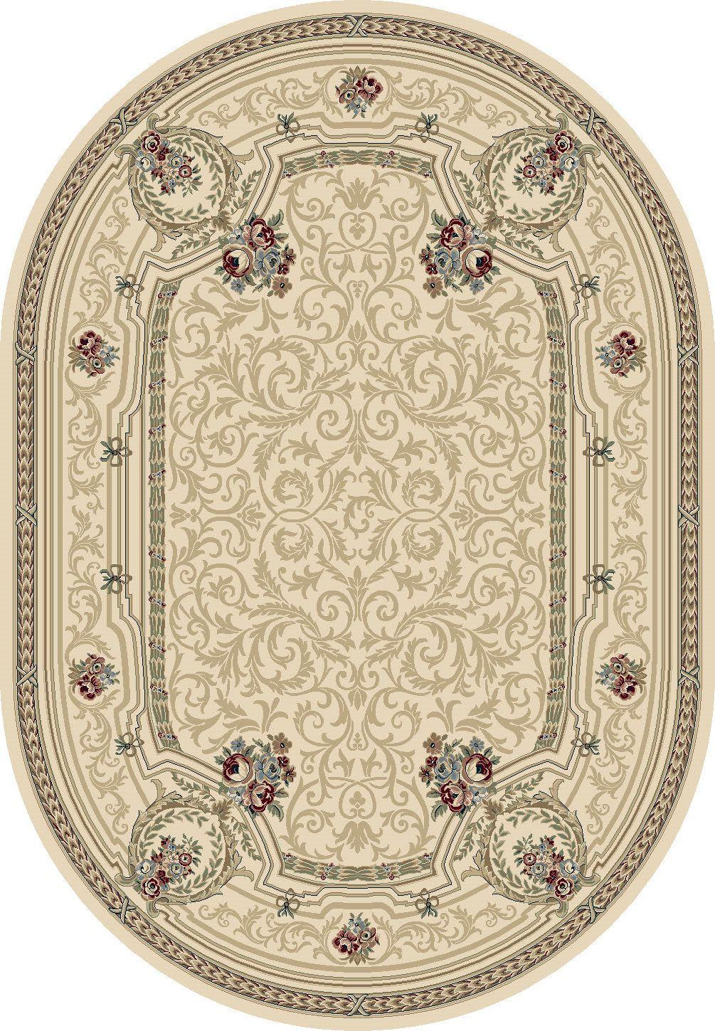 Dynamic Rugs Ancient Garden Classic Ivory 57091 Area Rug