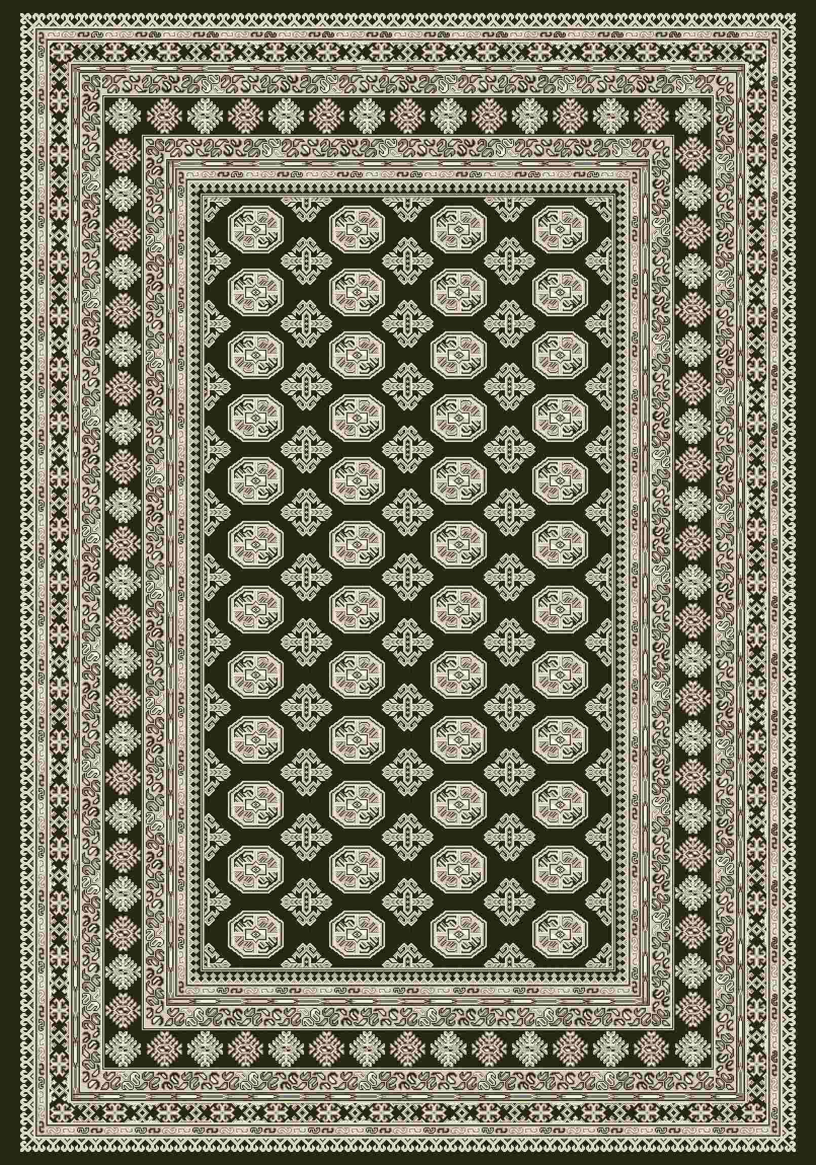 Dynamic Rugs Ancient Garden Classic Charcoal/silver 57102 Area Rug