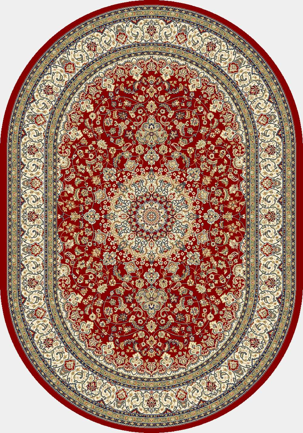 Dynamic Rugs Ancient Garden Classic Red/ivory 57119 Area Rug