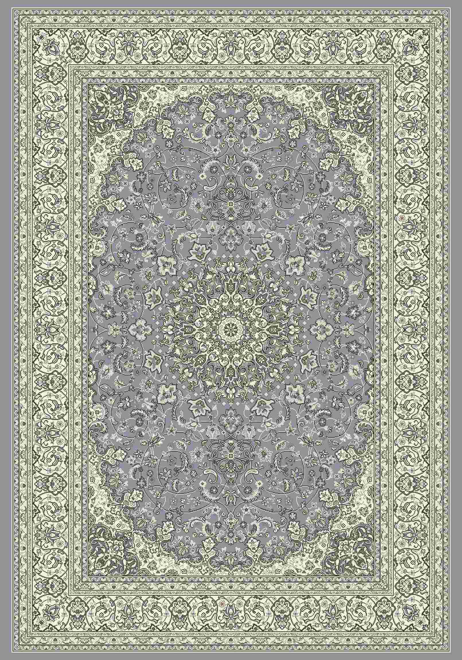 Dynamic Rugs Ancient Garden Classic Steel Blue/cream 57119 Area Rug