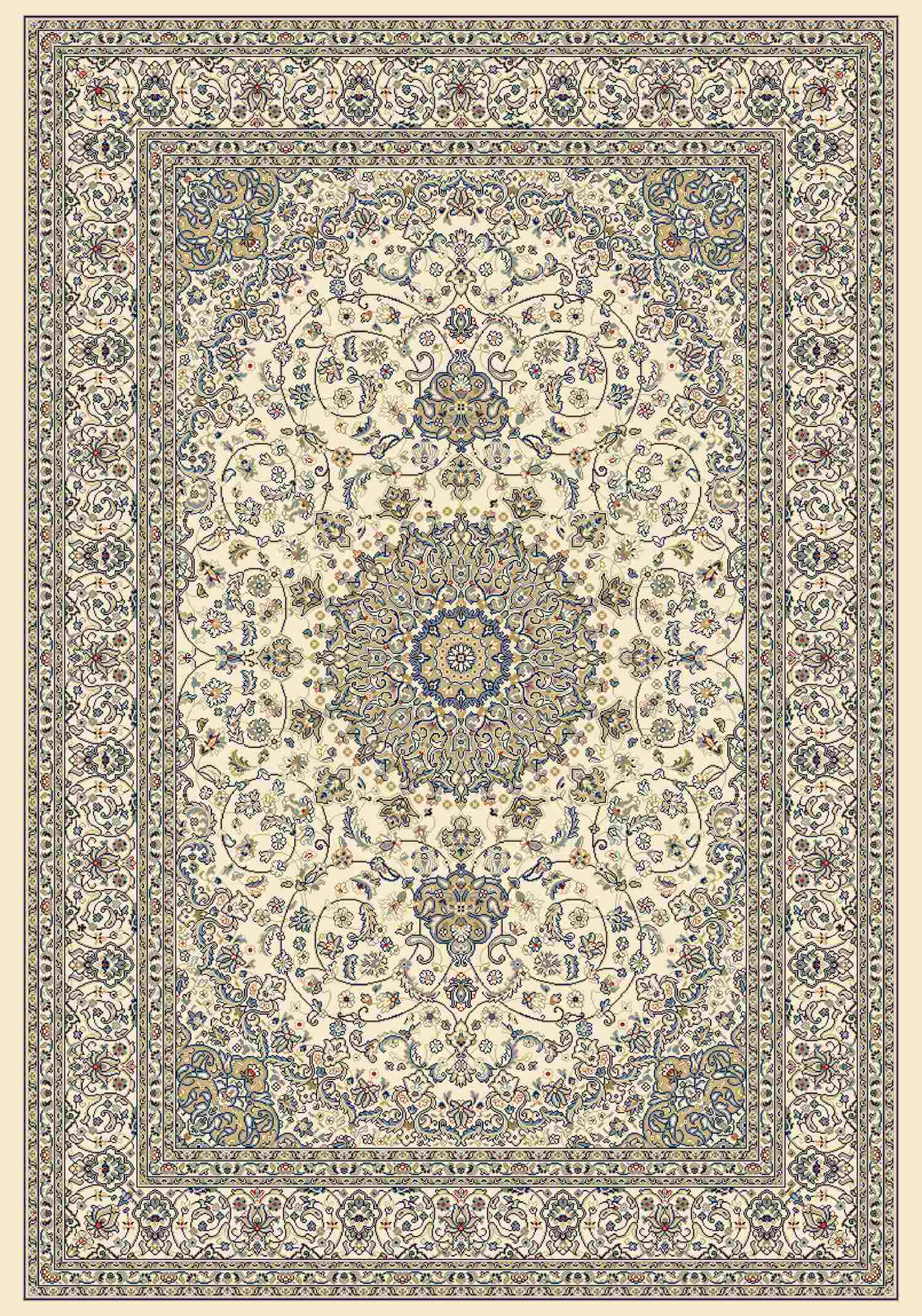 Dynamic Rugs Ancient Garden Classic Ivory 57119 Area Rug