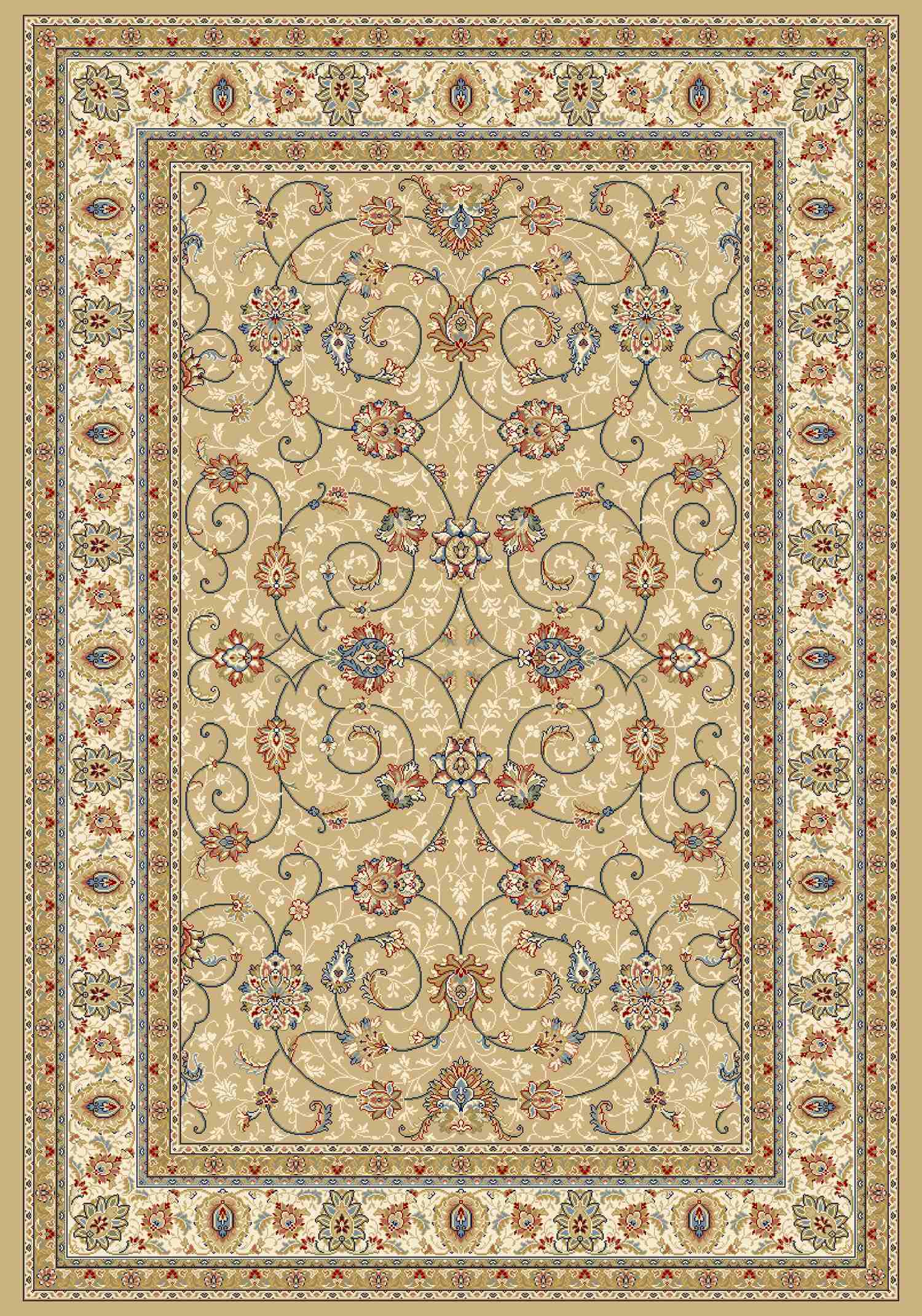 Dynamic Rugs Ancient Garden Classic Lt Gold/ivory 57120 Area Rug