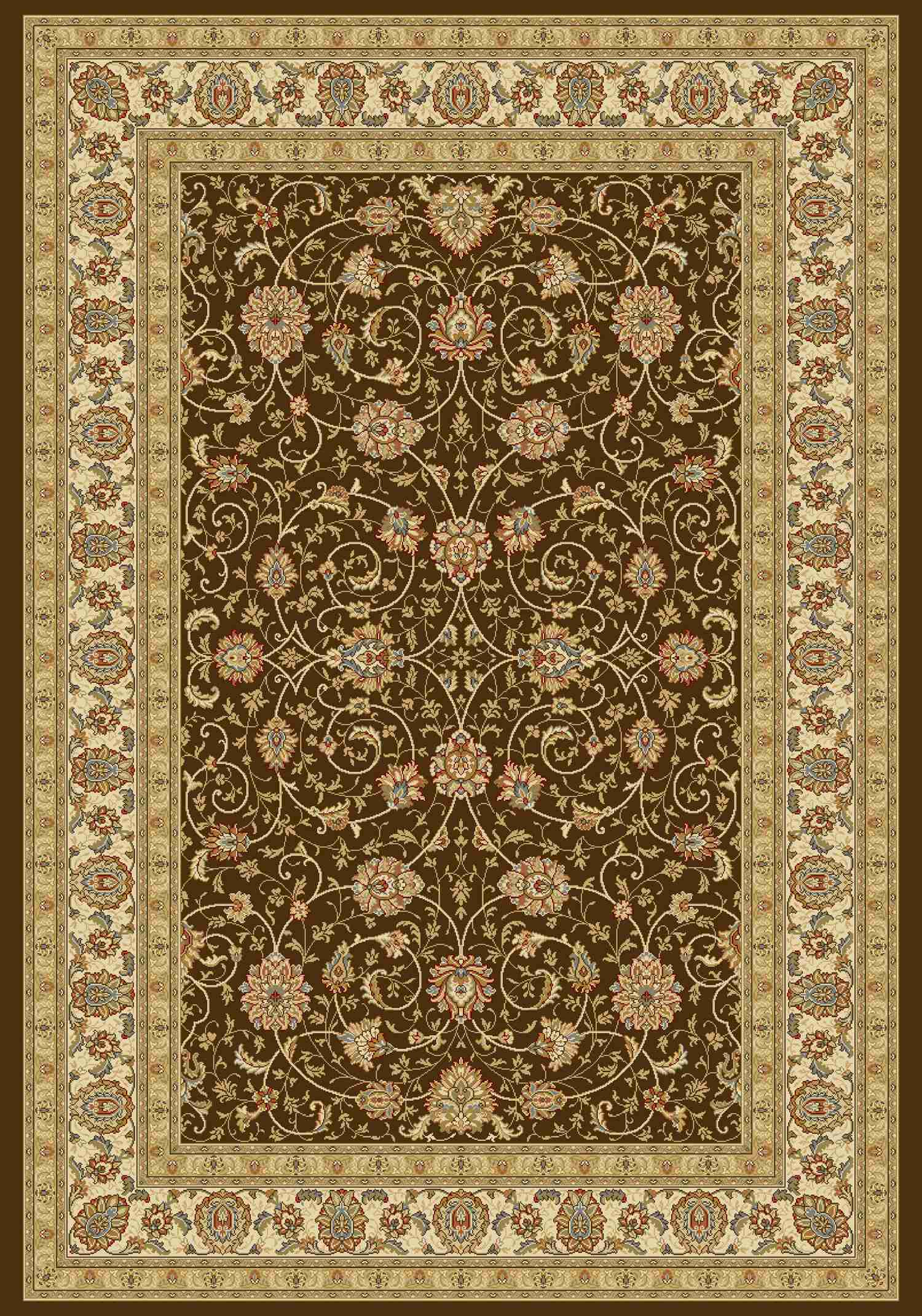 Dynamic Rugs Ancient Garden Classic Choc/ivory 57120 Area Rug