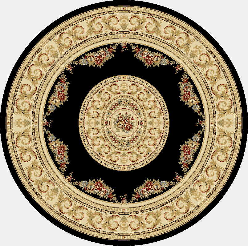 Dynamic Rugs Ancient Garden Classic Black/ivory 57226 Area Rug