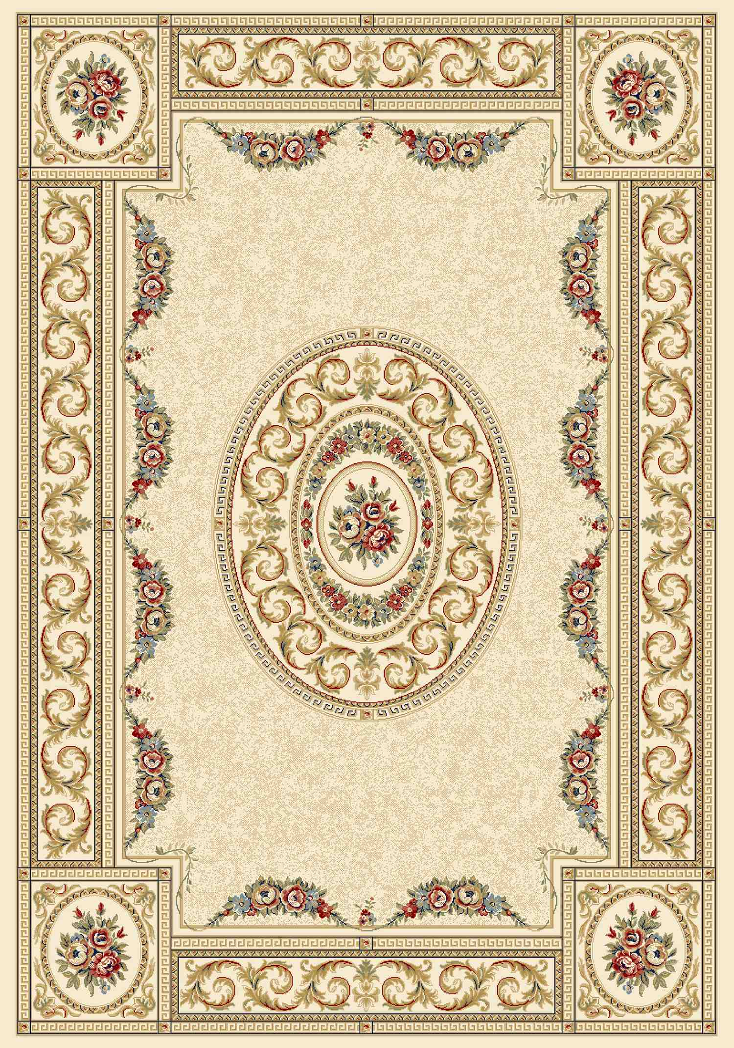 Dynamic Rugs Ancient Garden Classic Ivory 57226 Area Rug
