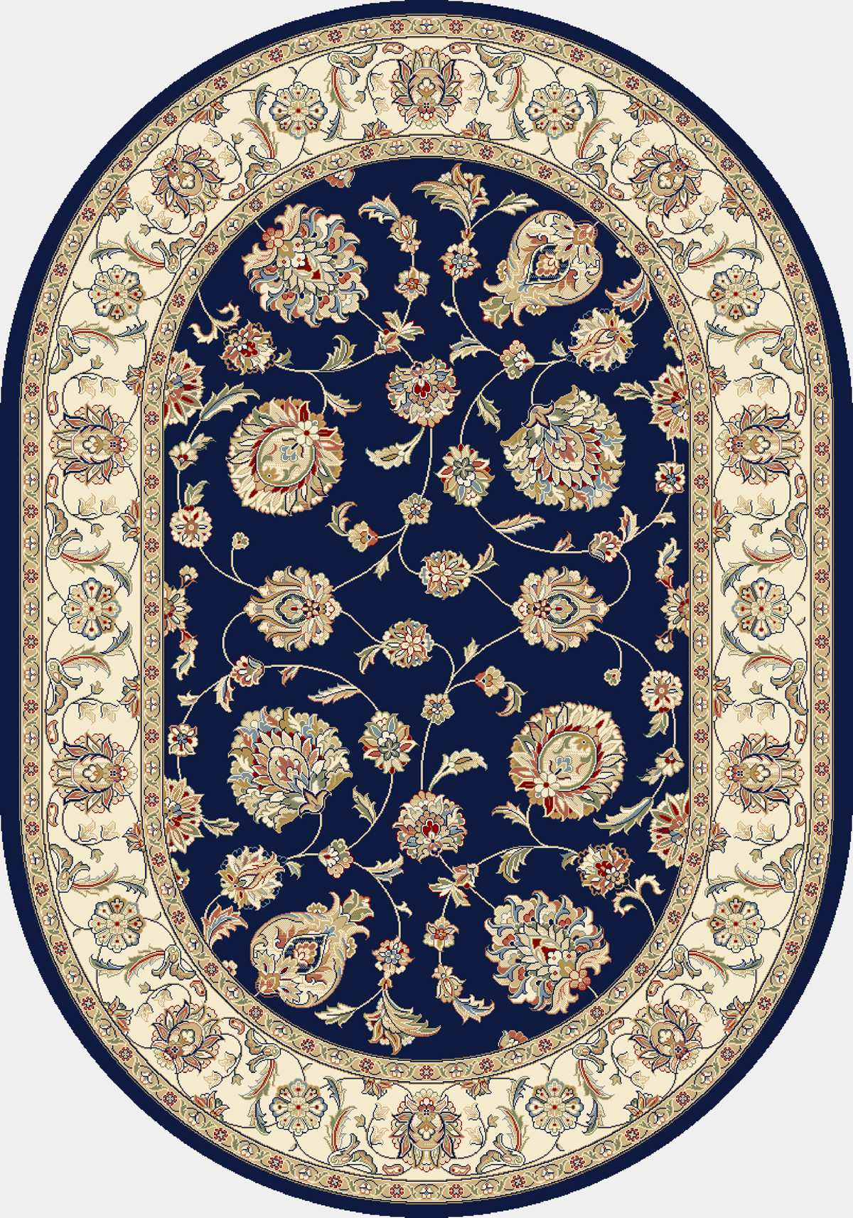 Dynamic Rugs Ancient Garden Classic Blue/ivory 57365 Area Rug