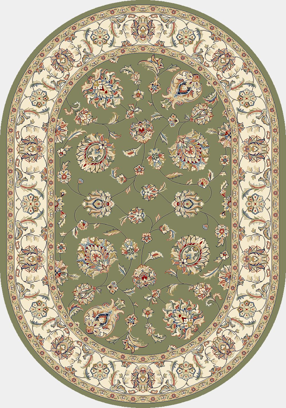 Dynamic Rugs Ancient Garden Classic Green/ivory 57365 Area Rug