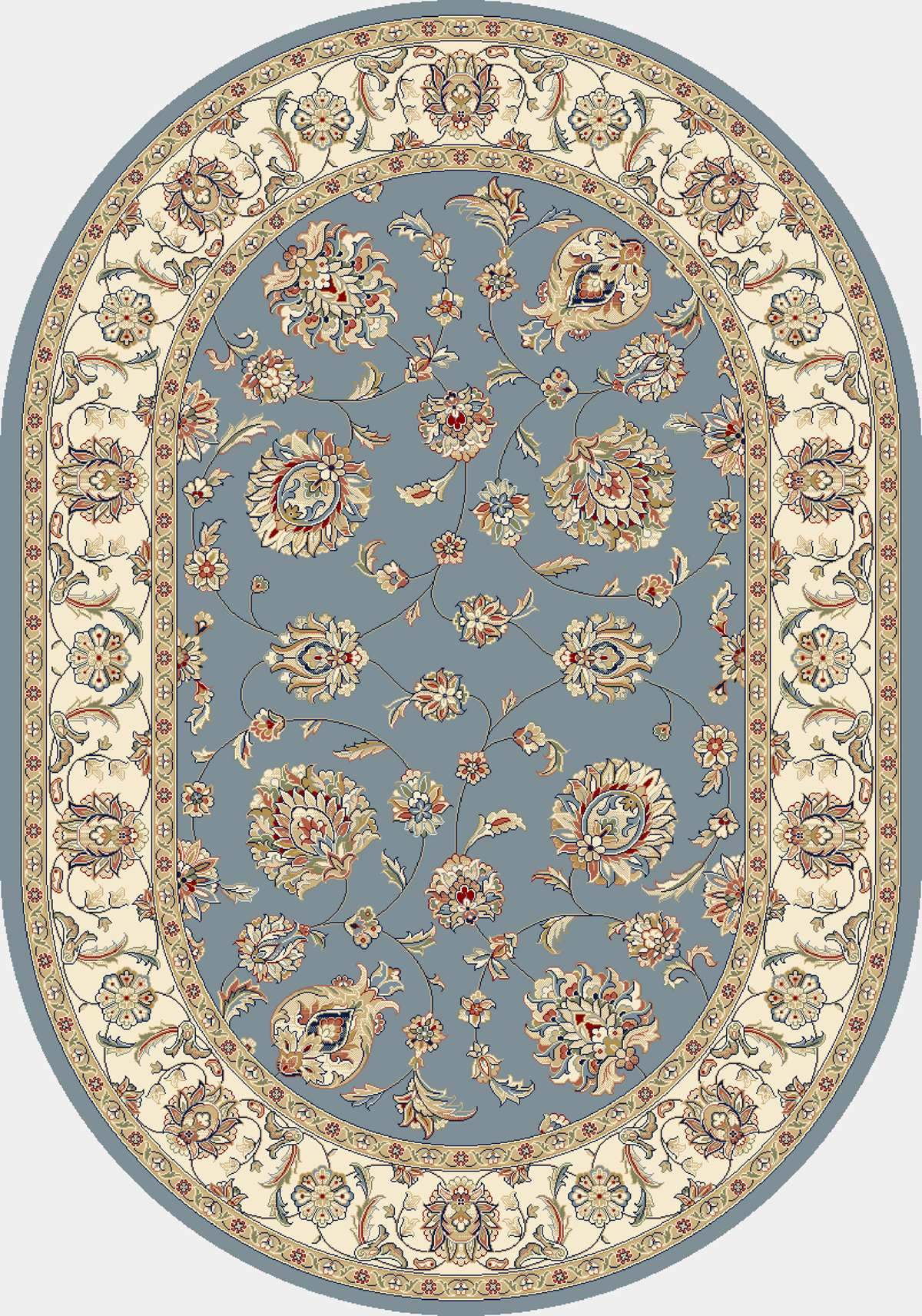 Dynamic Rugs Ancient Garden Classic Lt.blue/ivory 57365 Area Rug