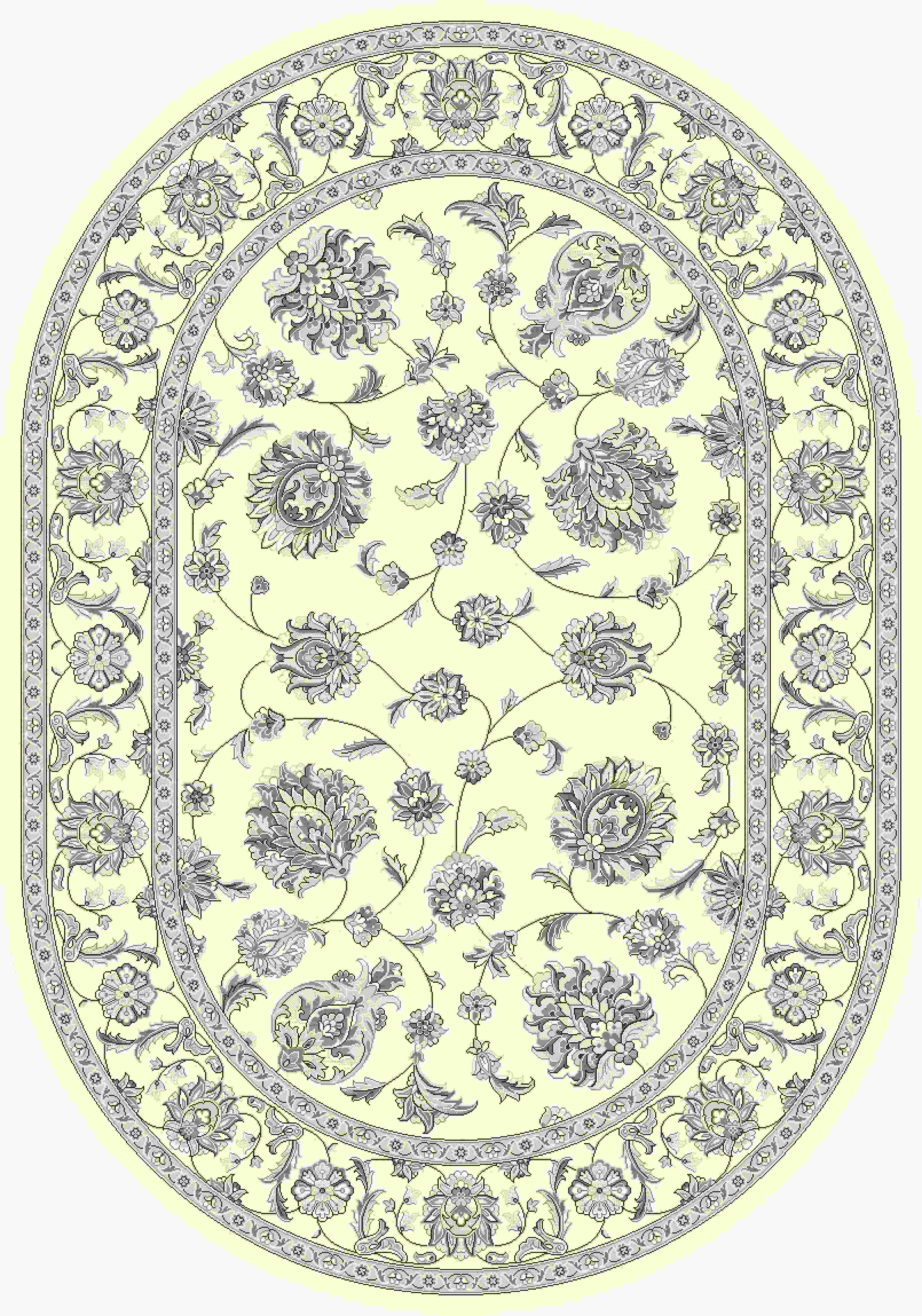 Dynamic Rugs Ancient Garden Classic Cream 57365 Area Rug