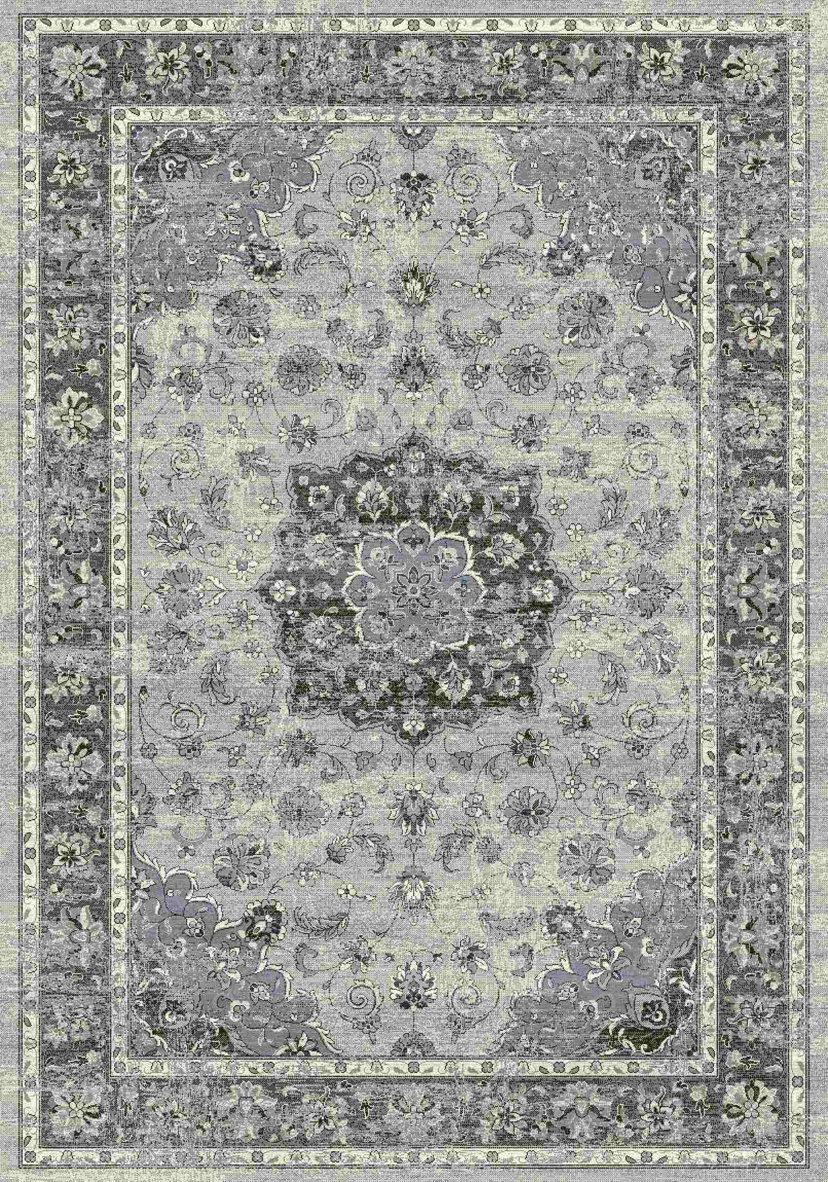 Dynamic Rugs Ancient Garden Distressed Silver/grey 57559 Area Rug