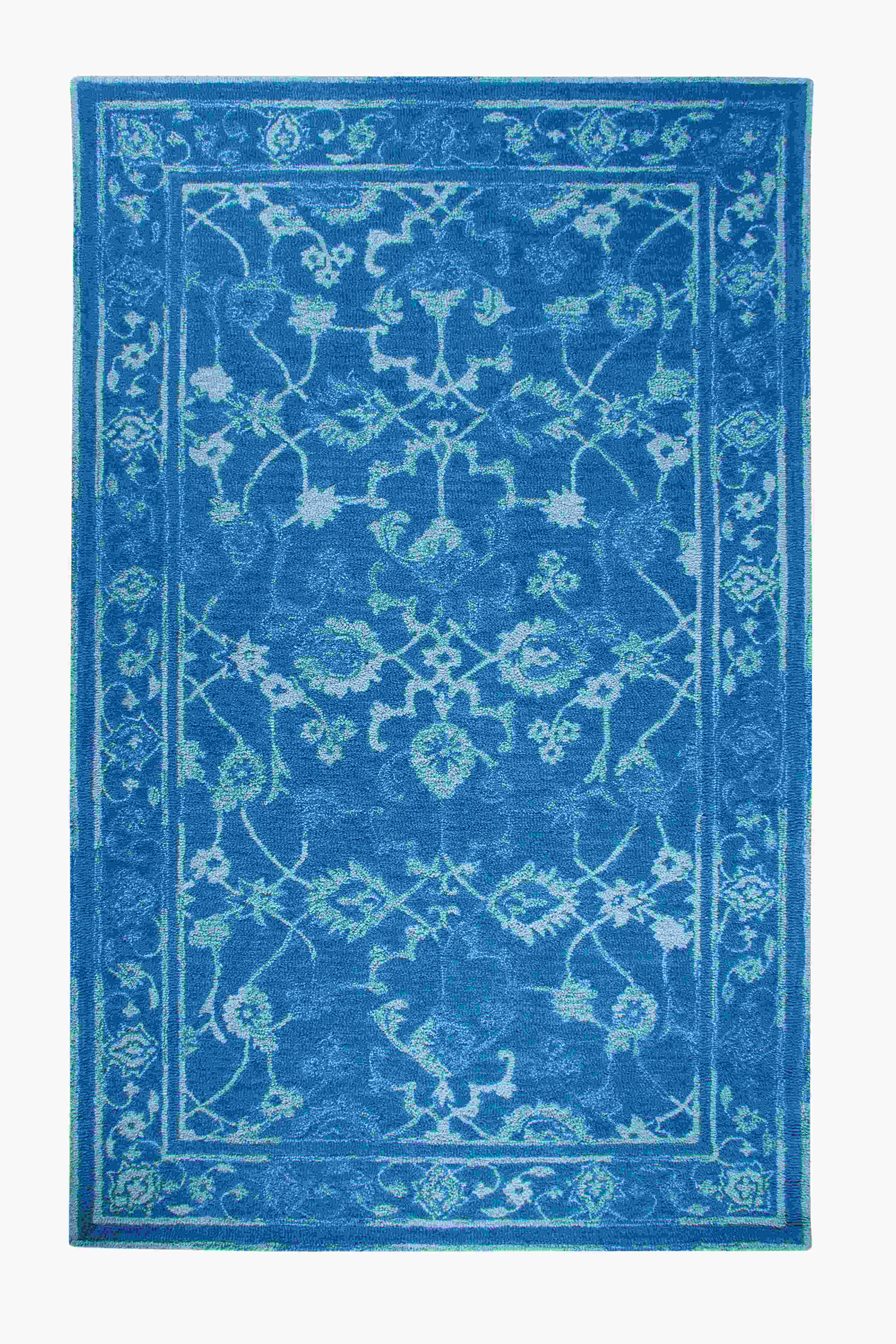 Dynamic Rugs Avalon Distressed Dk Blue/lt Blue 88802 Area Rug