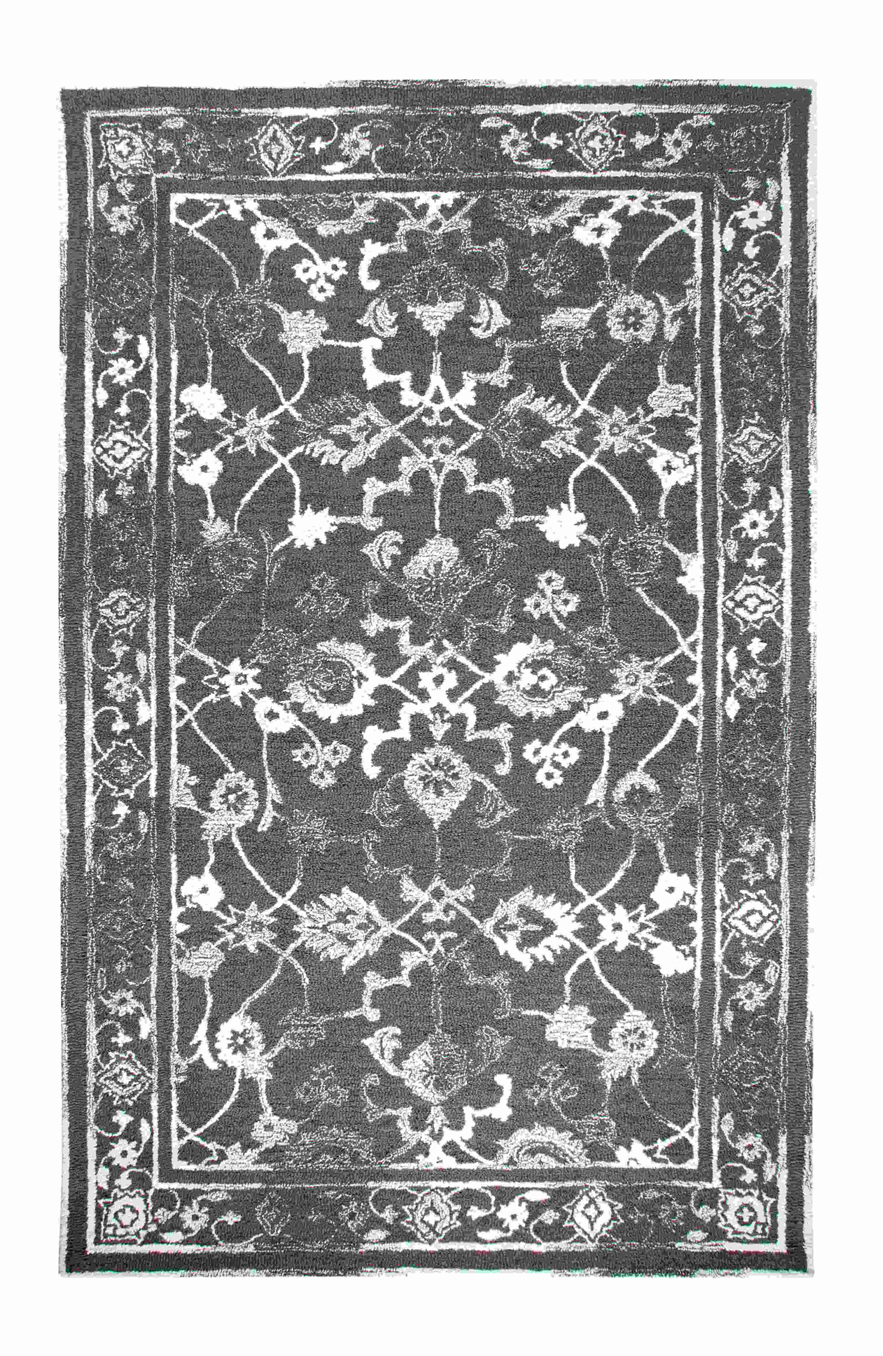 Dynamic Rugs Avalon Distressed Charcoal/ivory 88802 Area Rug